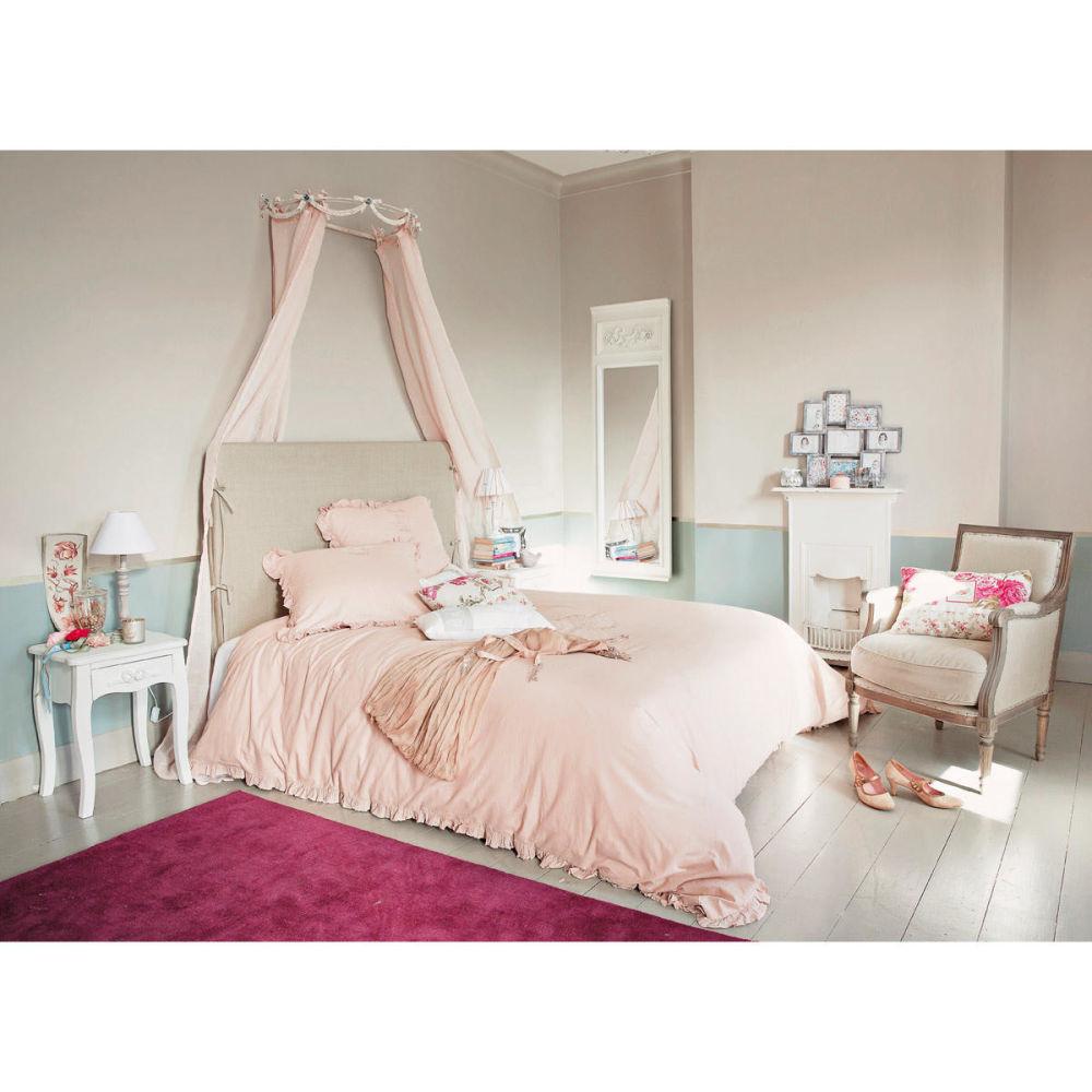 Ciel de lit rosalie beige maisons du monde - Ciel de lit maison du monde ...
