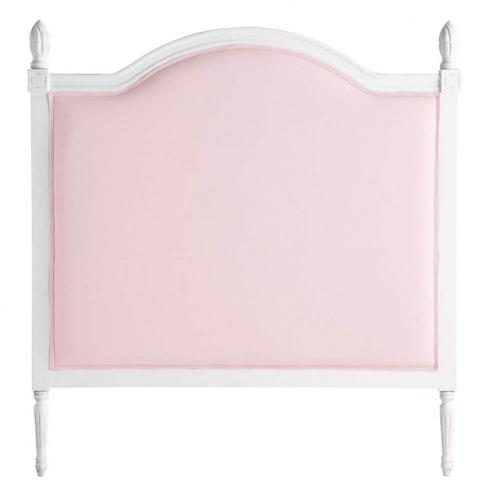T te de lit enfant rose louis maisons du monde for Photo tete de lit