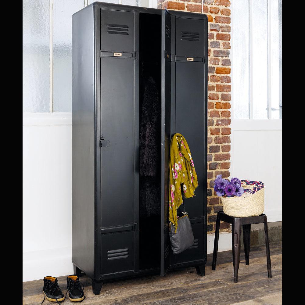 Dressing en m tal noir l 90 cm edison maisons du monde - Dressing style industriel ...