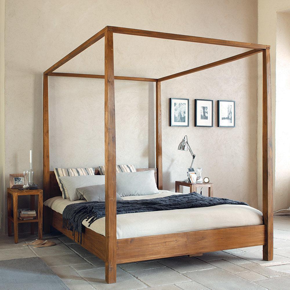 Lit Baldaquin Bois Maison Du Monde : Modern Canopy Bed