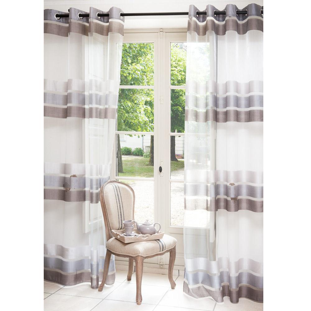 voilage maison du monde. Black Bedroom Furniture Sets. Home Design Ideas