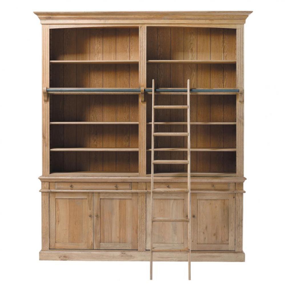 Meuble biblioth que chelle atelier maisons du monde - Meuble bibliotheque avec echelle ...