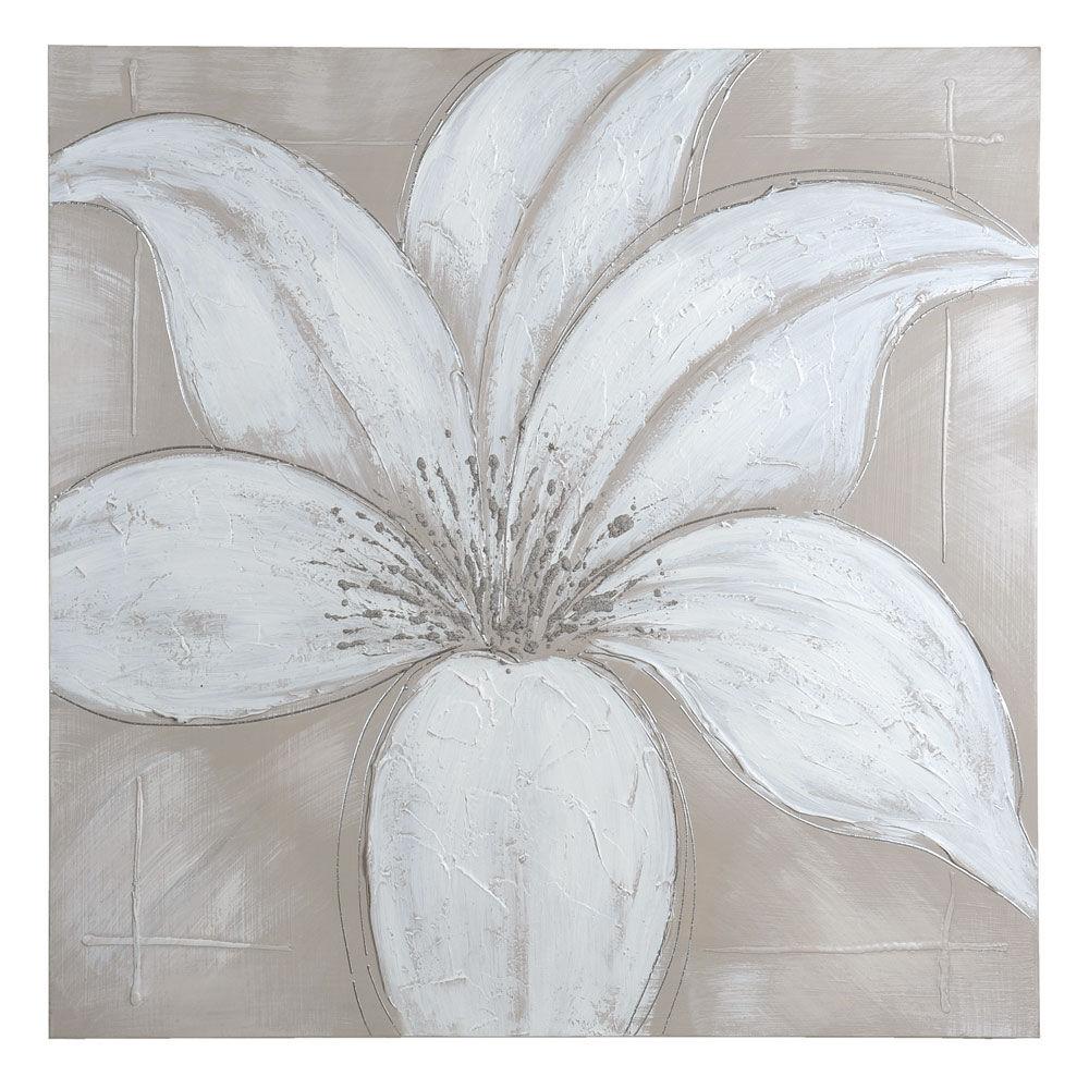 Toile beige 90 x 90 cm lys soft maisons du monde - Toile peinture pas cher ...