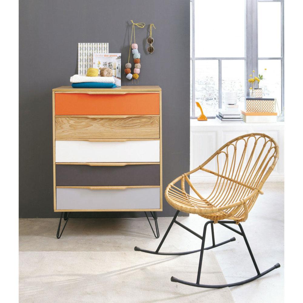fauteuil bascule en rotin p tunia maisons du monde. Black Bedroom Furniture Sets. Home Design Ideas