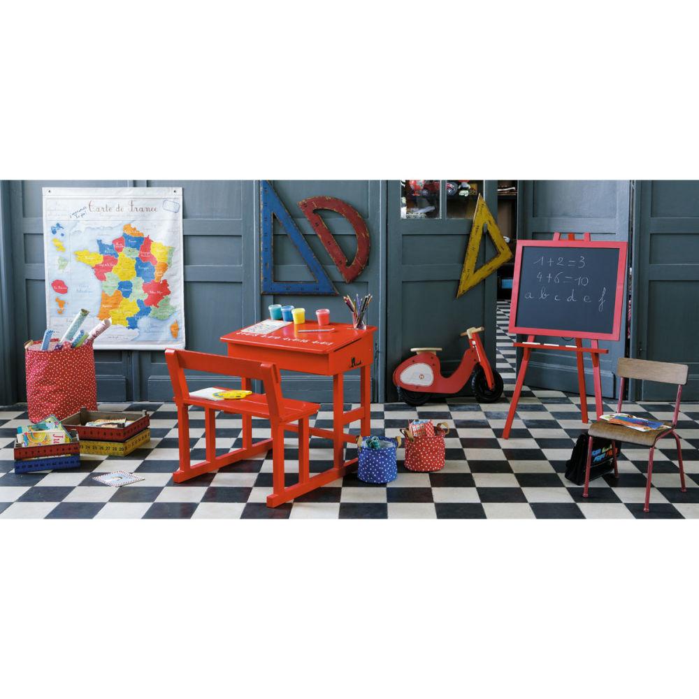 Chaise enfant rouge school maisons du monde - Maison du monde bureau enfant ...