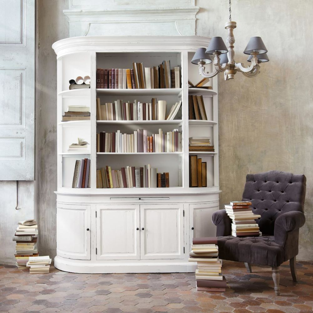 meuble biblioth que ivoire flaubert maisons du monde. Black Bedroom Furniture Sets. Home Design Ideas