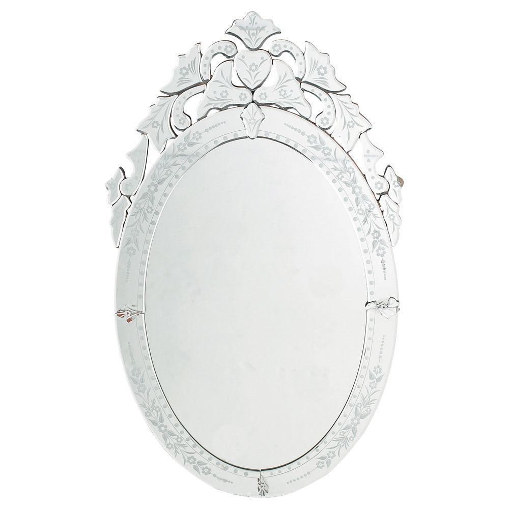 Miroir v nitien ovale maisons du monde for Miroir ung drill