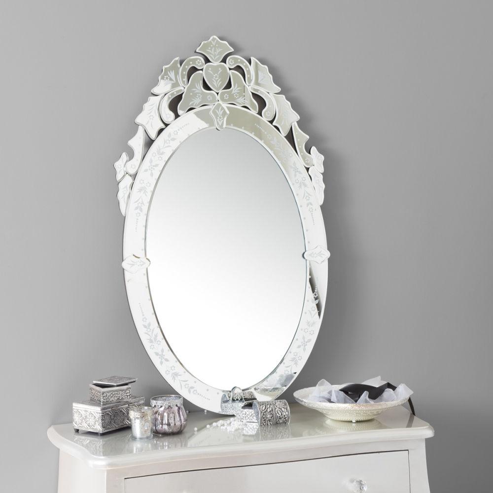 Miroir v nitien ovale maisons du monde for Miroir industriel maison du monde