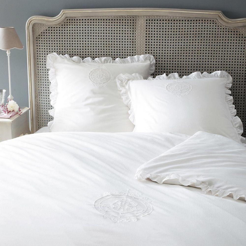 Cabecero de cama 140 cm beaumanoir maisons du monde for Housse de coussin romantique