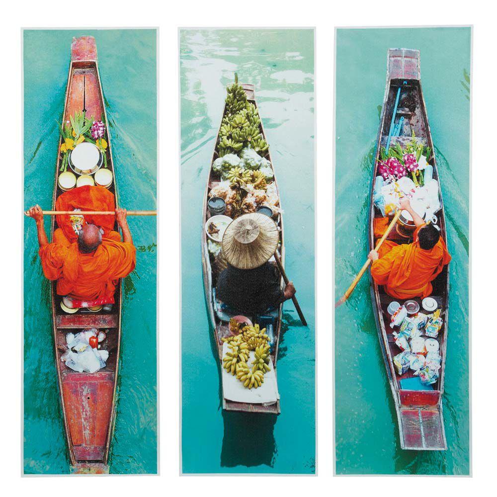 Ensemble de 3 toiles march flottant maisons du monde for Maison du monde tableaux