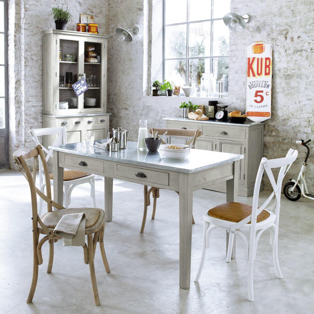chaise blanche tradition maisons du monde. Black Bedroom Furniture Sets. Home Design Ideas