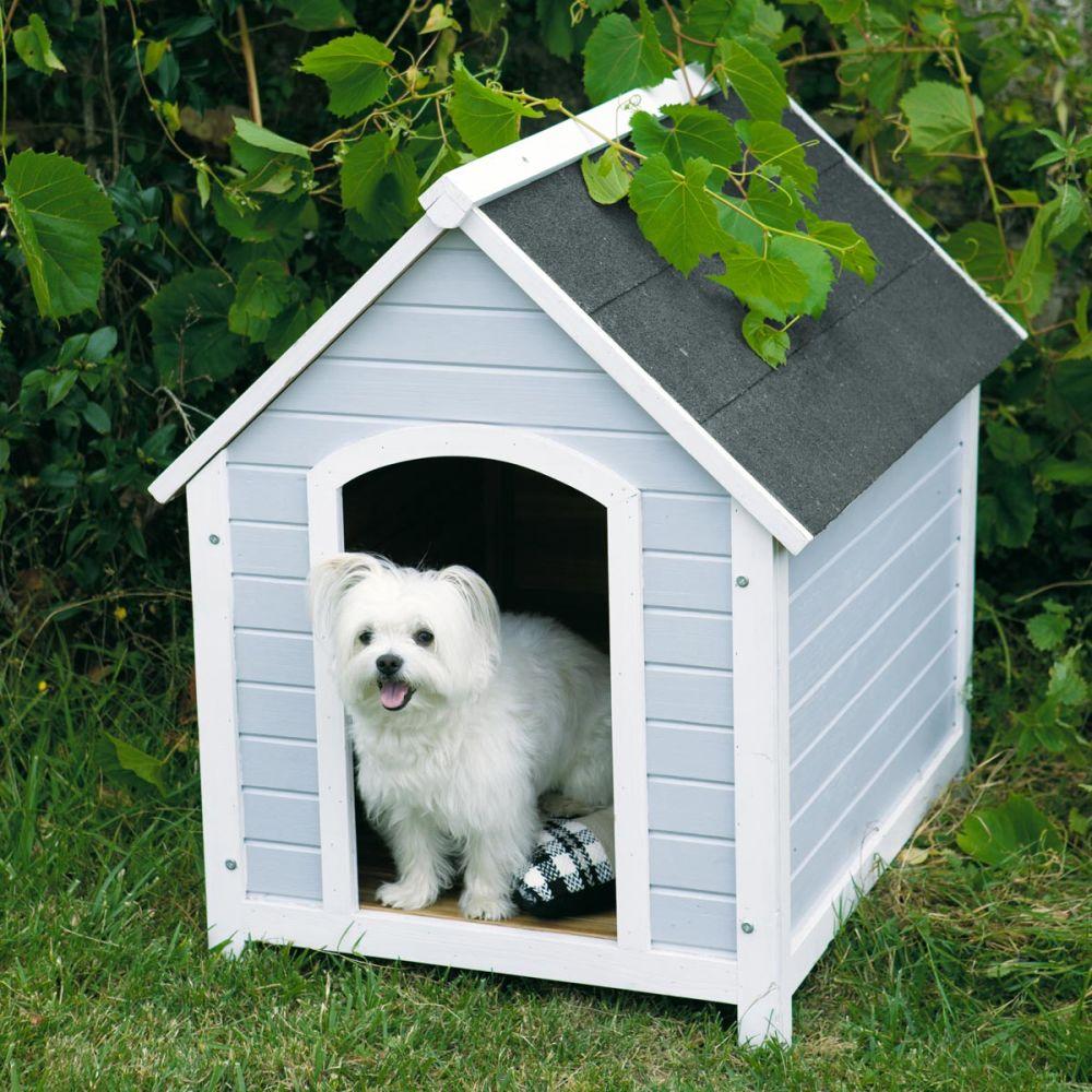 Niche pour chien grise mirza maisons du monde for Niche exterieur pour chien