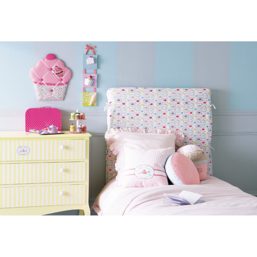 housse t te de lit enfant 90 cm macarons dream maisons. Black Bedroom Furniture Sets. Home Design Ideas