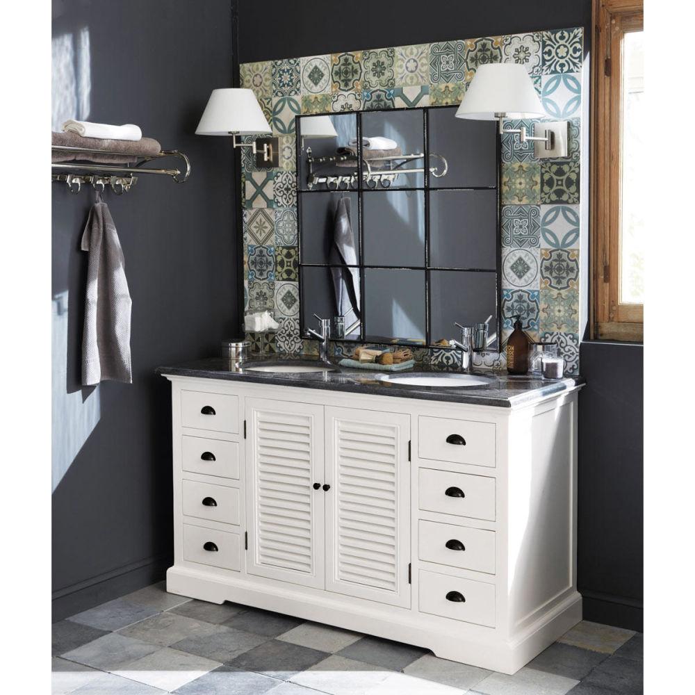 Meuble double vasque salle de bain edenton maisons du monde - Meubles autour du monde ...
