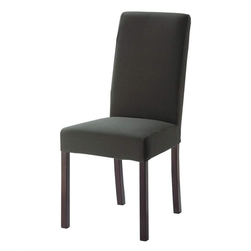 Housse grise margaux maisons du monde for Housse de chaise gris