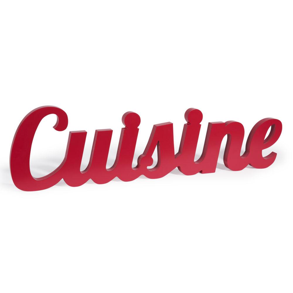 D co murale en bois rouge l 80 cm cuisine maisons du monde - Objet deco cuisine rouge ...