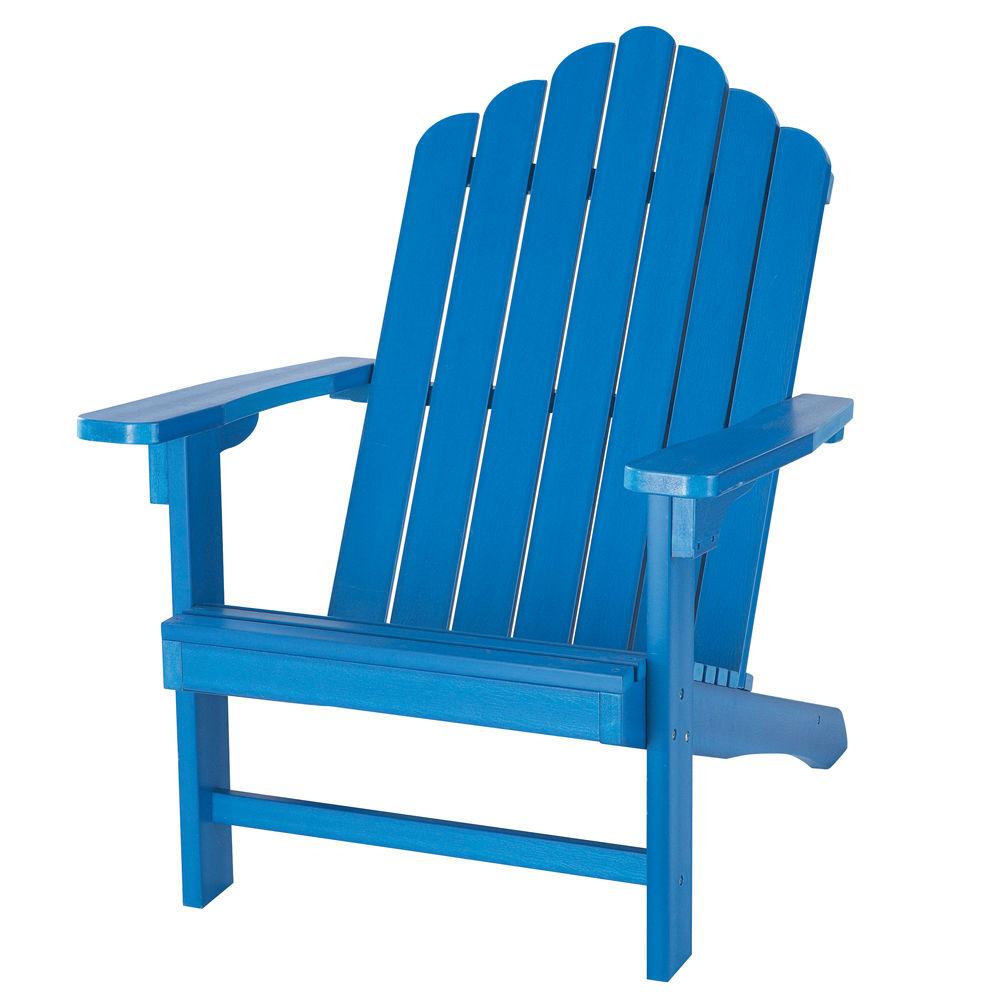 Fauteuil de jardin bleu portland maisons du monde for Fauteuil de jardin canadien