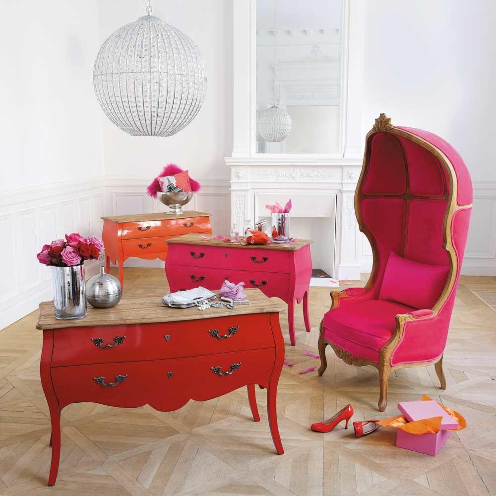 Commode en bouleau rouge l 120 cm haute couture maisons du monde - Commode maison du monde occasion ...