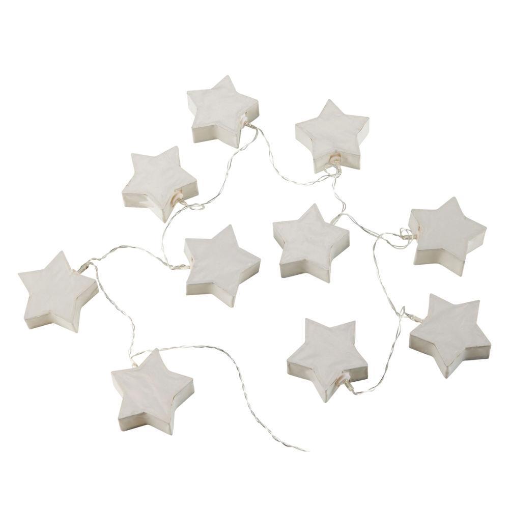 guirlande lumineuse enfant en papier blanche starlight maisons du monde - Guirlande Lumineuse Chambre Bebe