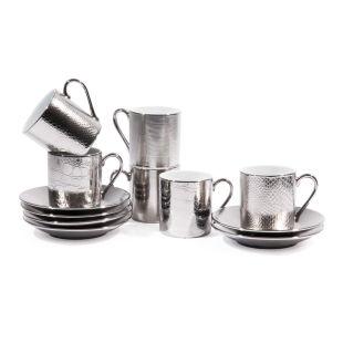 Coffret 6 Tasses à Café Avec Soucoupes Sauvage