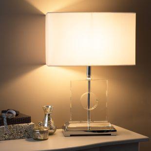 Lampe Cristal Et Coton Quartz