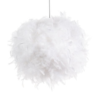 Suspension Plumes Blanches 28cm Feathers