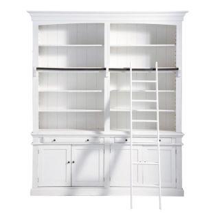 Meuble Bibliothèque échelle Blanche Amandine