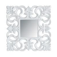 Miroir Rivoli carré blanc pour 80€