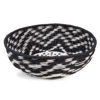 corbeille en vannerie noire et blanche h 13 cm cantaura. Black Bedroom Furniture Sets. Home Design Ideas