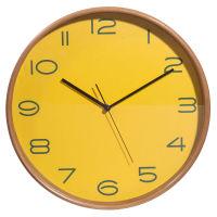 D coration horloge en bois jaune d 32 cm camden toute la for Carrelage quadrilobe