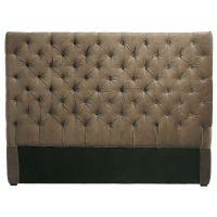 Tête de lit 140 cm taupe Chesterfield pour 189€