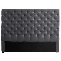 Tête de lit 160 cm gris Chesterfield pour 229€