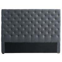 Tête de lit 140 cm gris Chesterfield pour 189€
