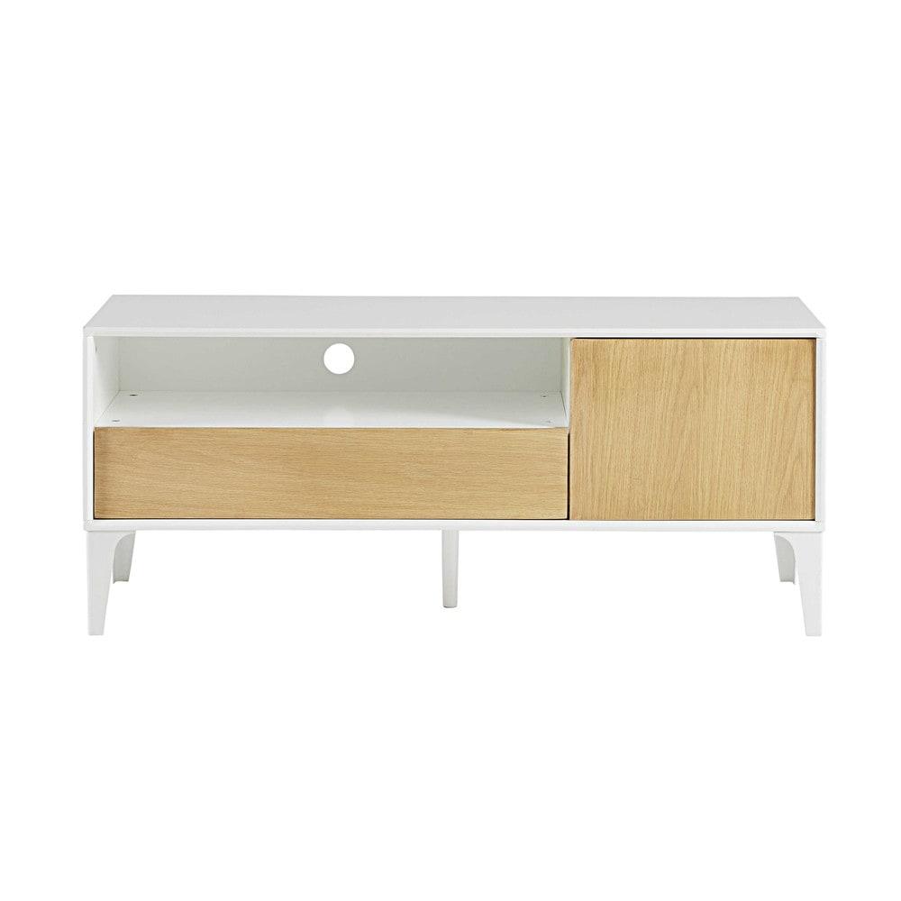 1 door 1 drawer tv unit l 120 cm kara maisons du monde. Black Bedroom Furniture Sets. Home Design Ideas