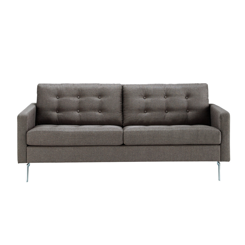 2 3 seater fabric sofa in grey victor maisons du monde. Black Bedroom Furniture Sets. Home Design Ideas