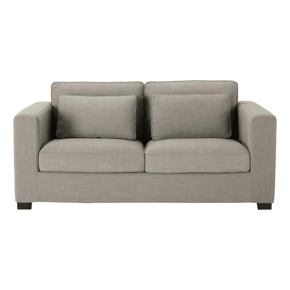 Flexsteel Everly Sofa: 2/3 Seater Monet Fabric Sofa Bed In Light Grey, Mattress