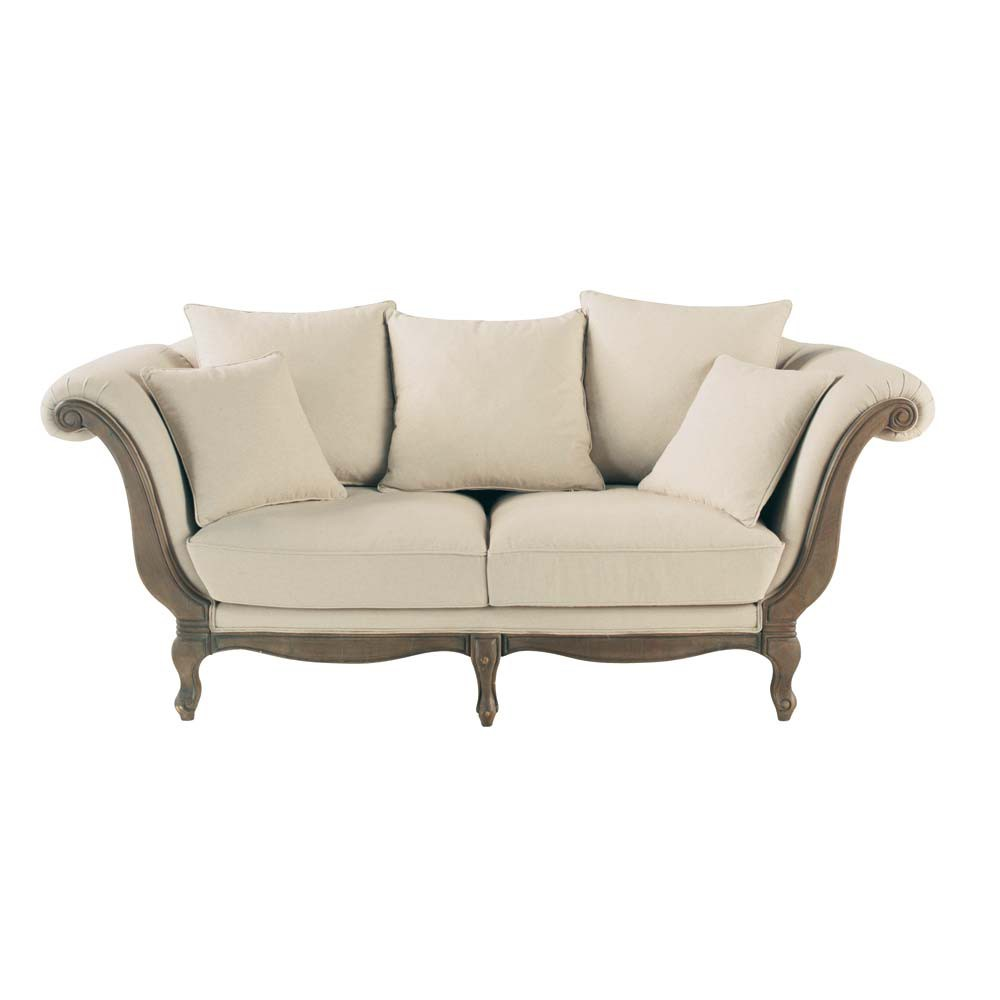 2 3 sitzer polsterbank aus baumwolle flandre flandre maisons du monde. Black Bedroom Furniture Sets. Home Design Ideas