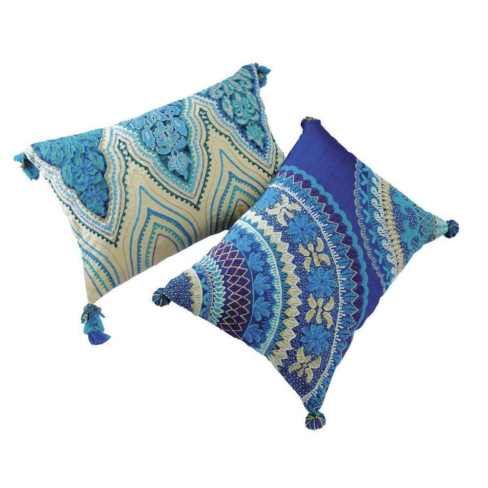 2 baumwollkissen jodhpur im indischen stil 30 x 45 cm und 33 x 43 cm blau - Coussin gris maison du monde ...