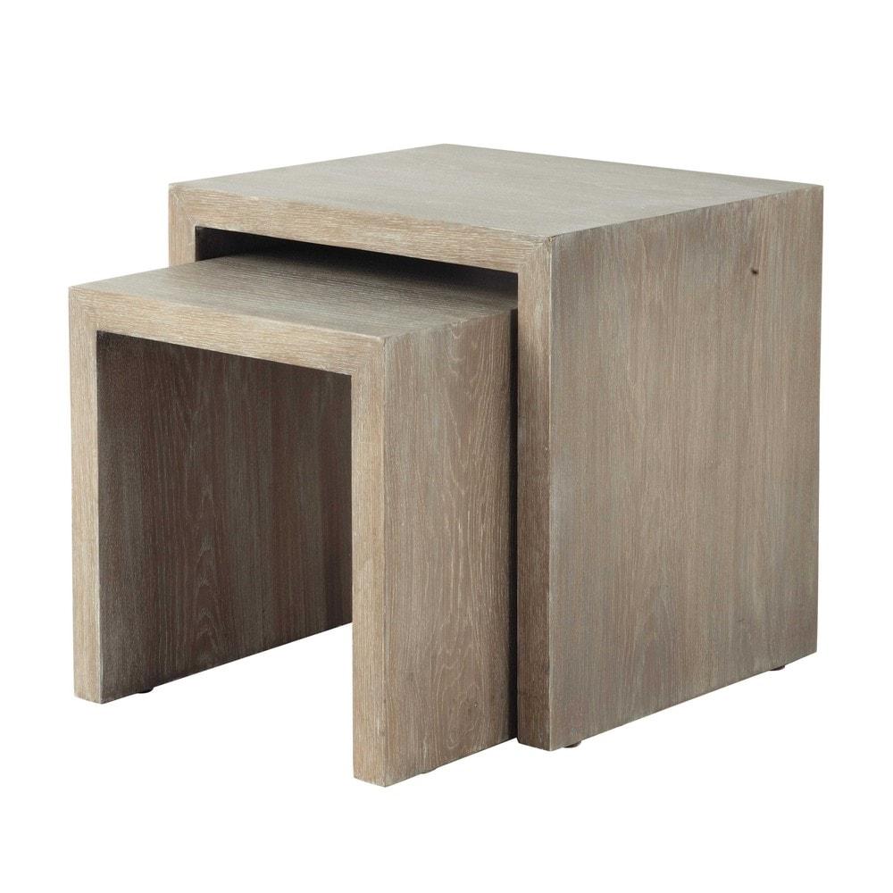 2 bouts de canap en bois l 38 cm et l 47 cm baltic maisons du monde. Black Bedroom Furniture Sets. Home Design Ideas