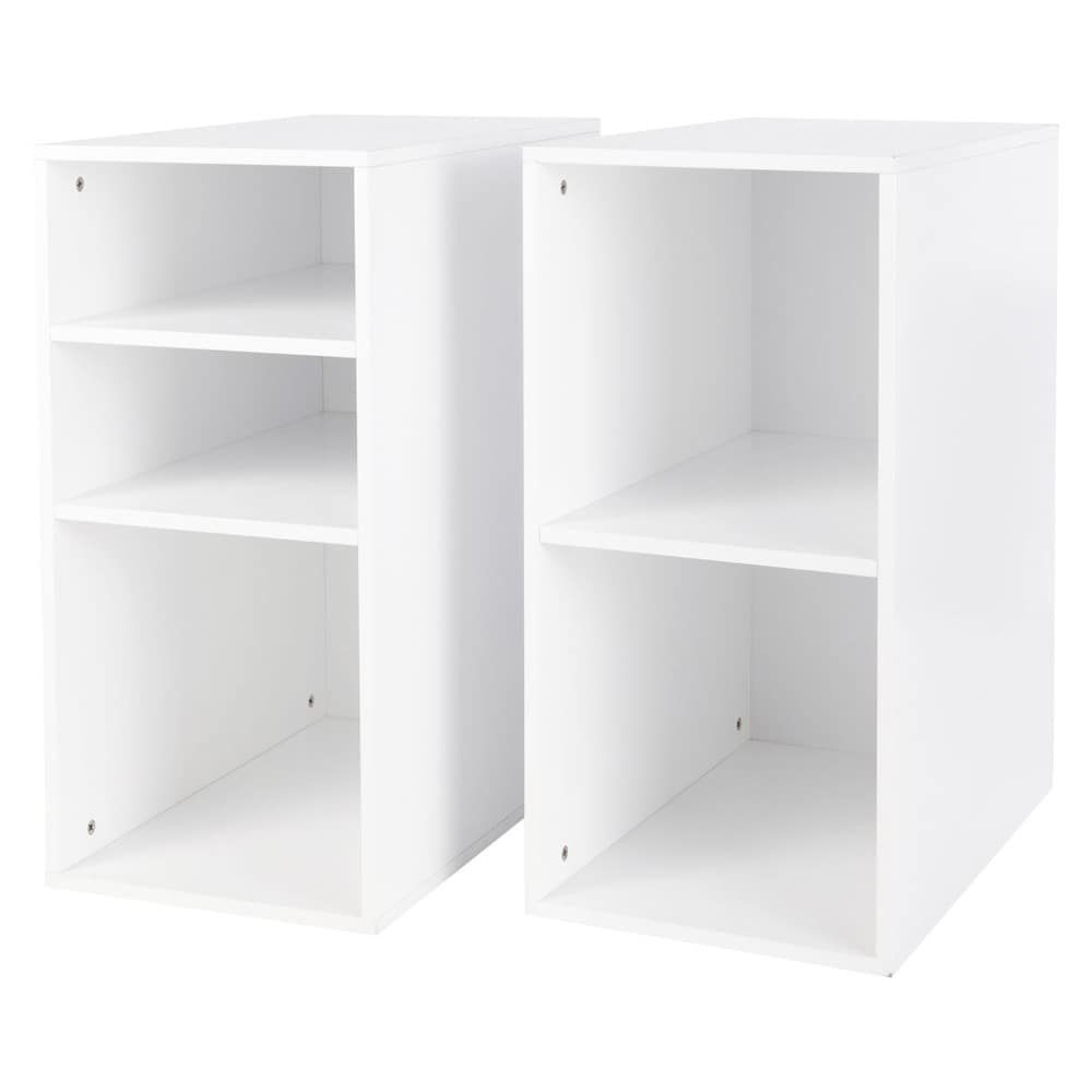 2 caissons de bureau en bois blanc h 73 cm desk maisons du monde. Black Bedroom Furniture Sets. Home Design Ideas