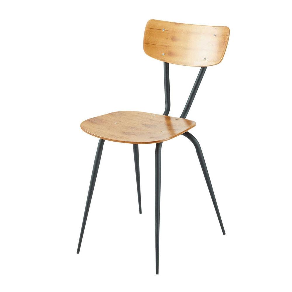 2 chaises vintage ferry maisons du monde. Black Bedroom Furniture Sets. Home Design Ideas