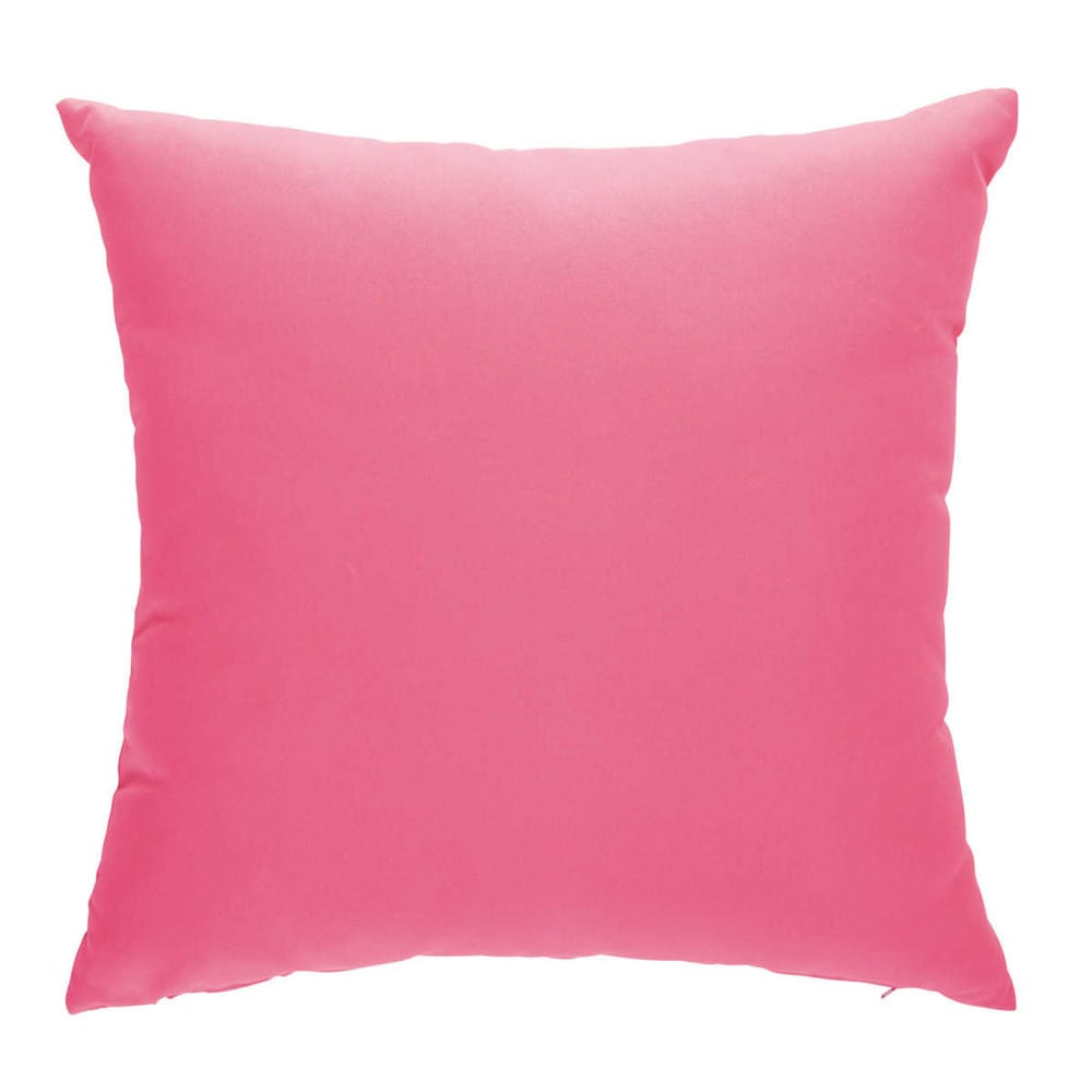2 coussins en tissu roses 50 x 50 cm sunny maisons du monde - Tissu coussin exterieur ...