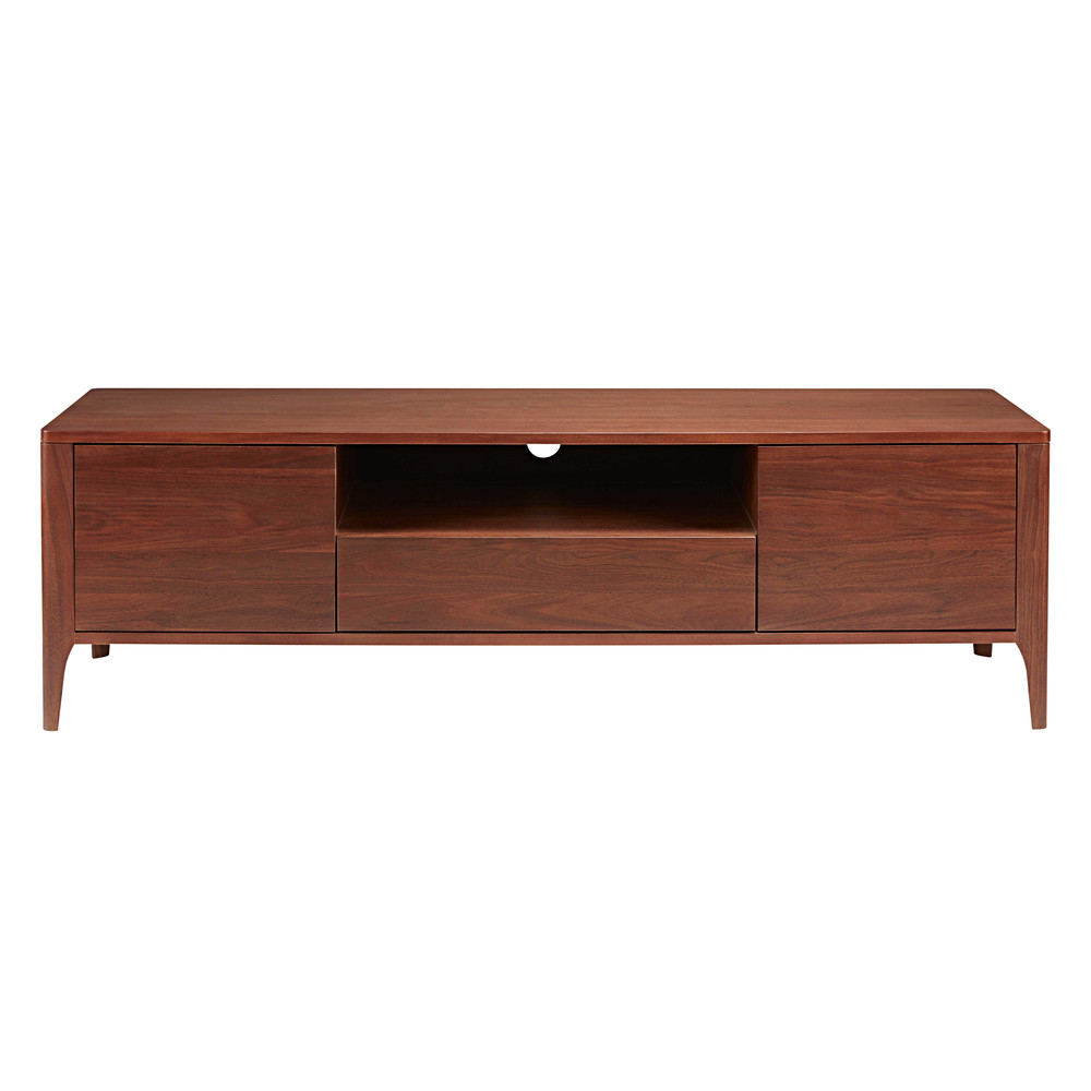 2 door 1 drawer tv unit in solid walnut buckingam. Black Bedroom Furniture Sets. Home Design Ideas