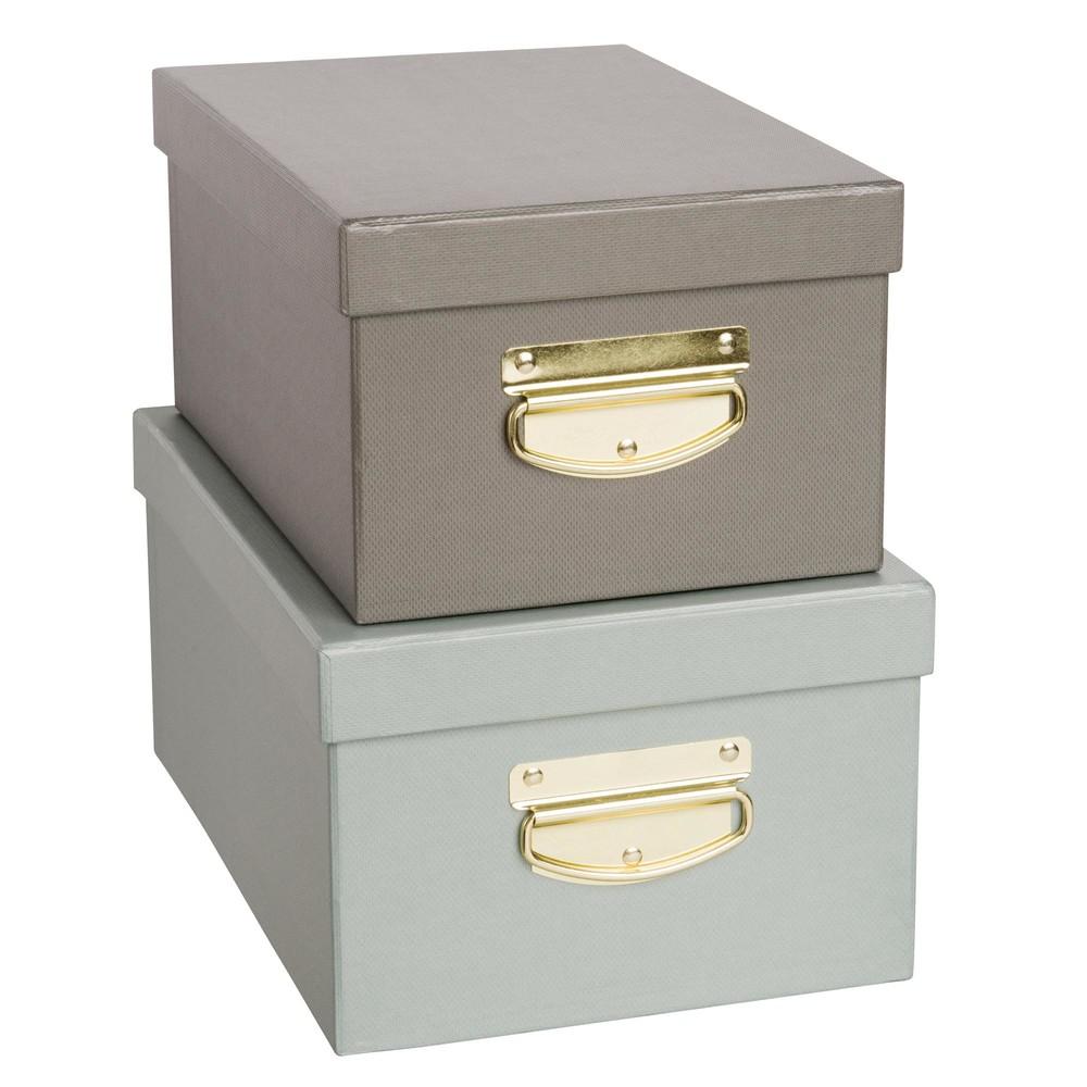 Decorative Empty Boxes : Green cardboard boxes maisons du monde