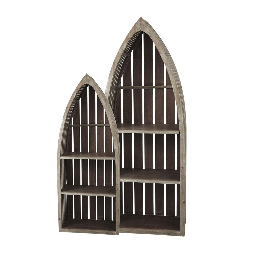 2 houten st malo rekken in bootvorm b 41 cm en b 60 cm maisons du monde - Maison du monde st malo ...