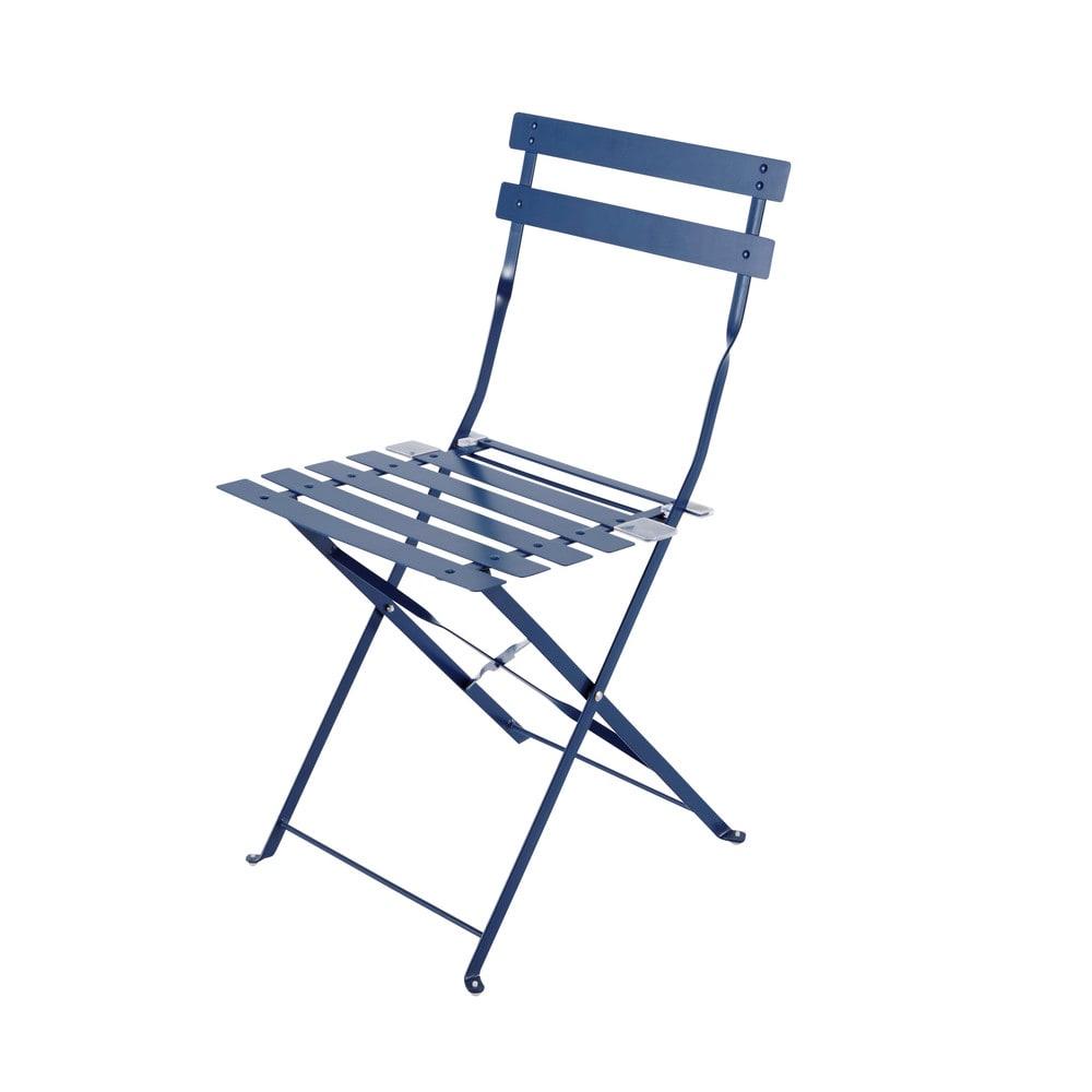2 klappgartenst hle aus metall blau guinguette maisons. Black Bedroom Furniture Sets. Home Design Ideas