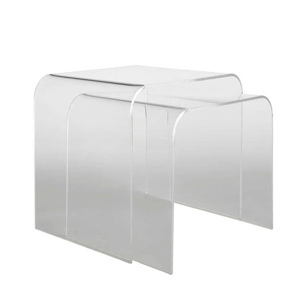 2 mesas auxiliares de metacrilato an 36 cm y an 39 cm - Mesas de metacrilato ...