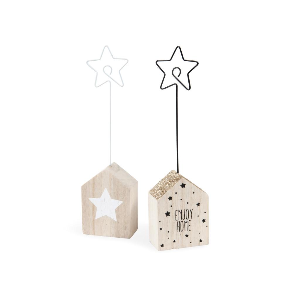 2 porta nomi casetta stella in legno yelena maisons du monde - Scala porta asciugamani maison du monde ...