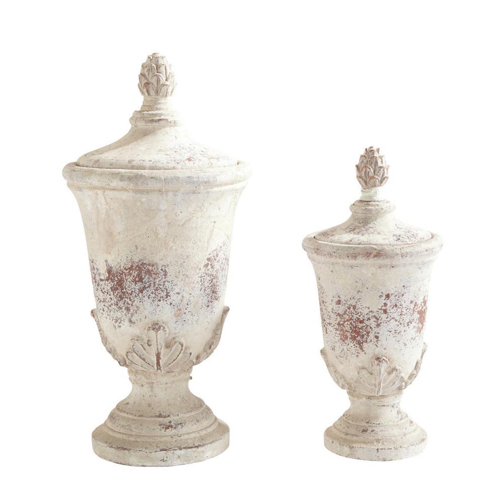 2 pots en terre cuite h 34 cm et h 44 cm lully maisons for Cache pot interieur pas cher