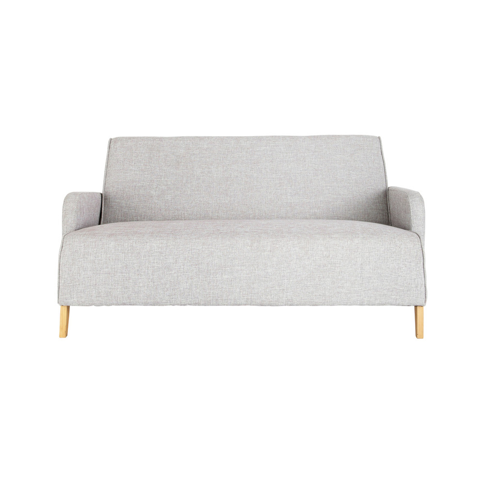 2 seater fabric sofa in grey adam maisons du monde. Black Bedroom Furniture Sets. Home Design Ideas